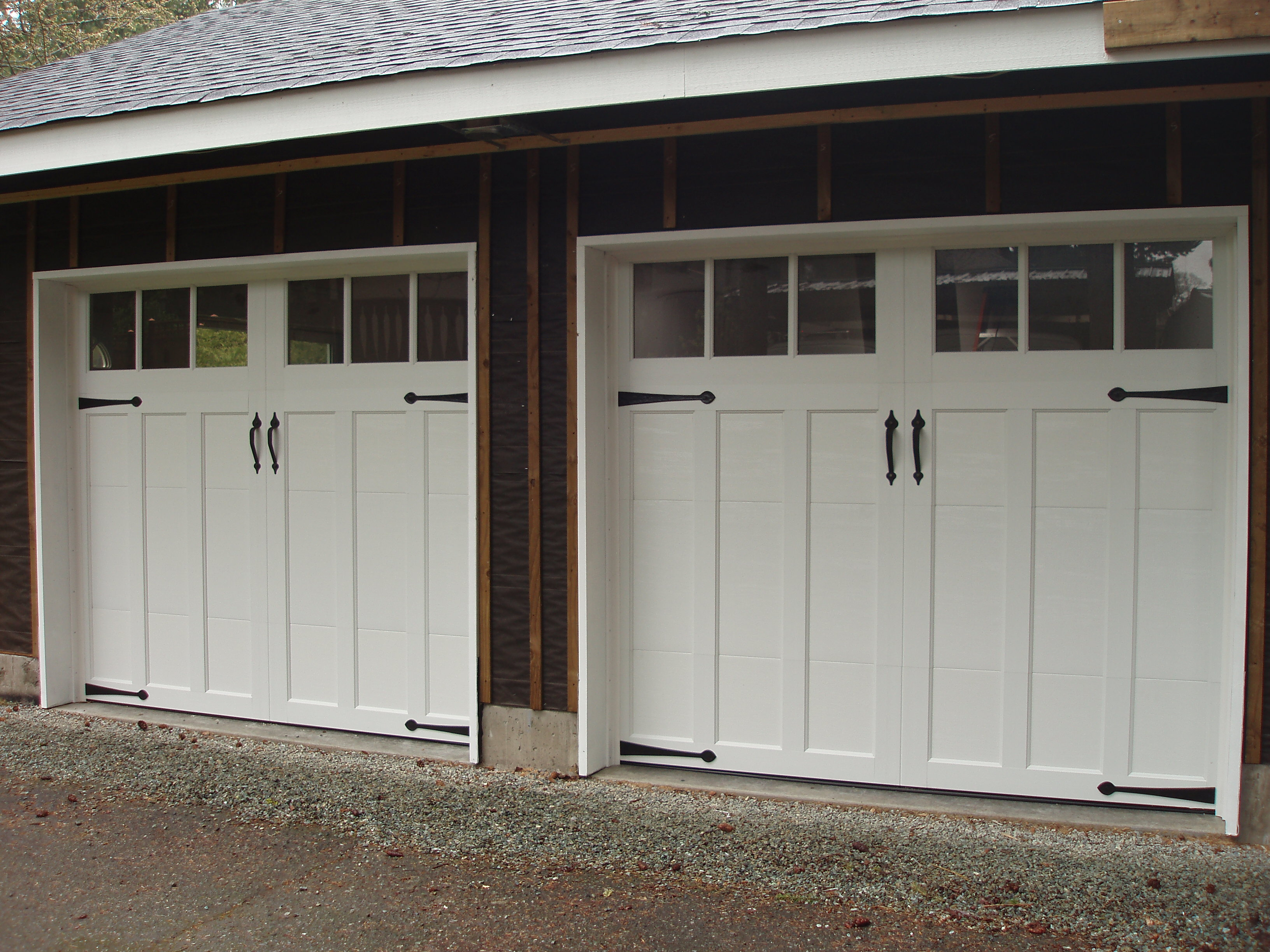 2448 #5F4C3E CC10 Clopay Coachman Door Model 13 With Rec 13 Glass With Decorative  wallpaper Coachman Collection Garage Doors 36153264
