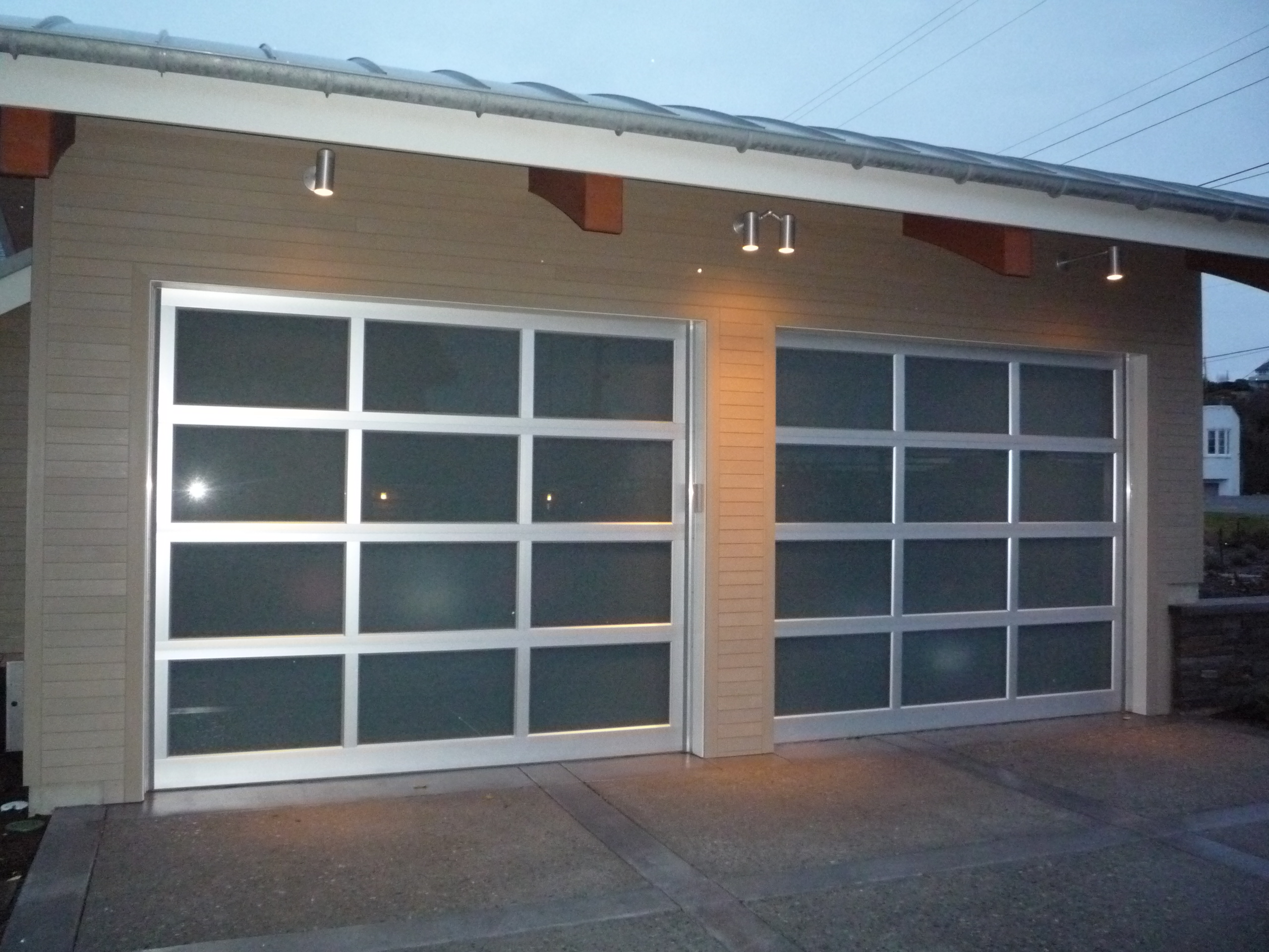 1920 #386B93 Obscure Glass Garage Door Viewing Gallery image Full View Aluminum Garage Doors 37232560