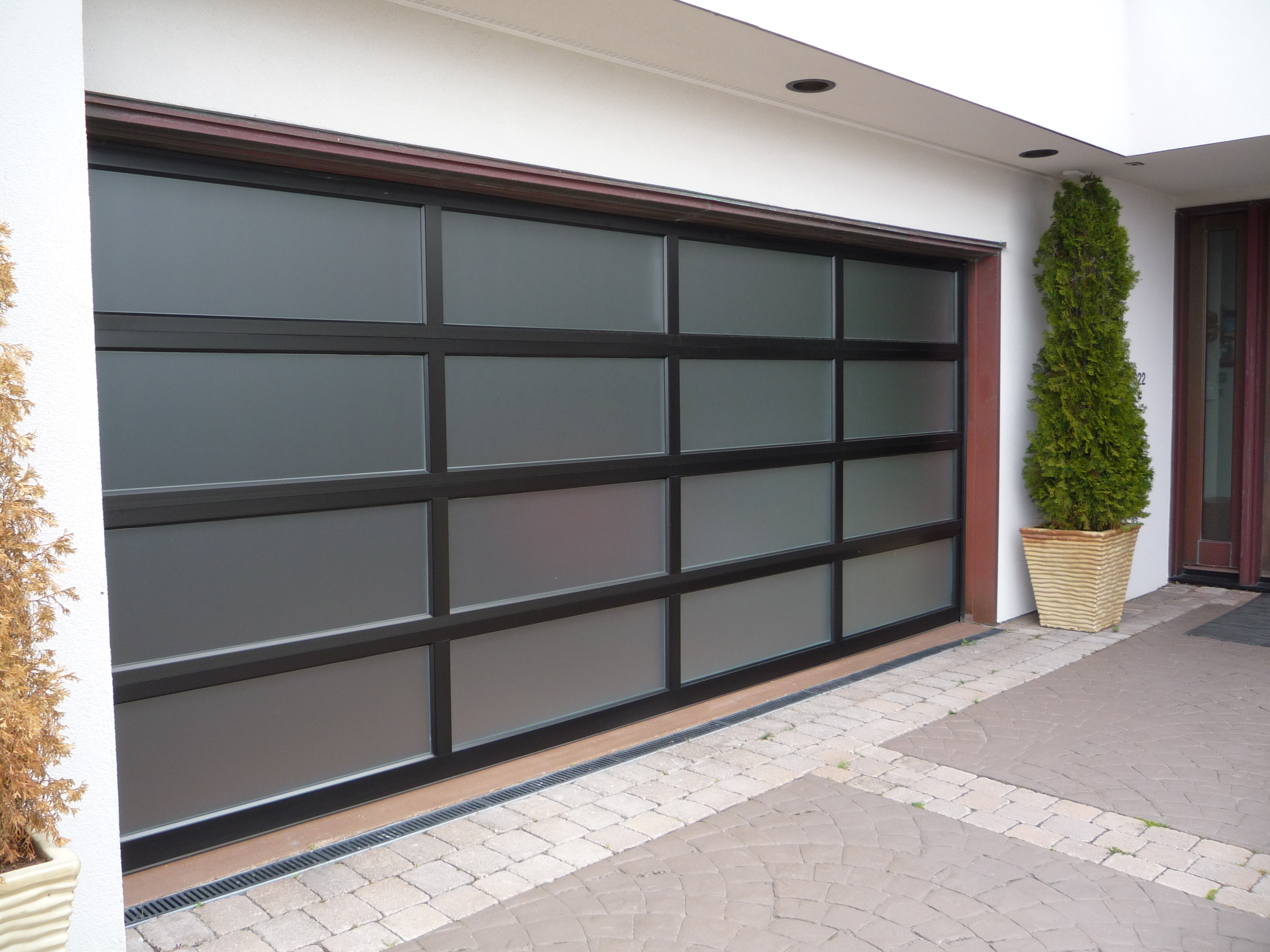 2736 #4F5930 Full View Aluminum View The Product Info Previous Next image Full View Aluminum Garage Doors 37233648