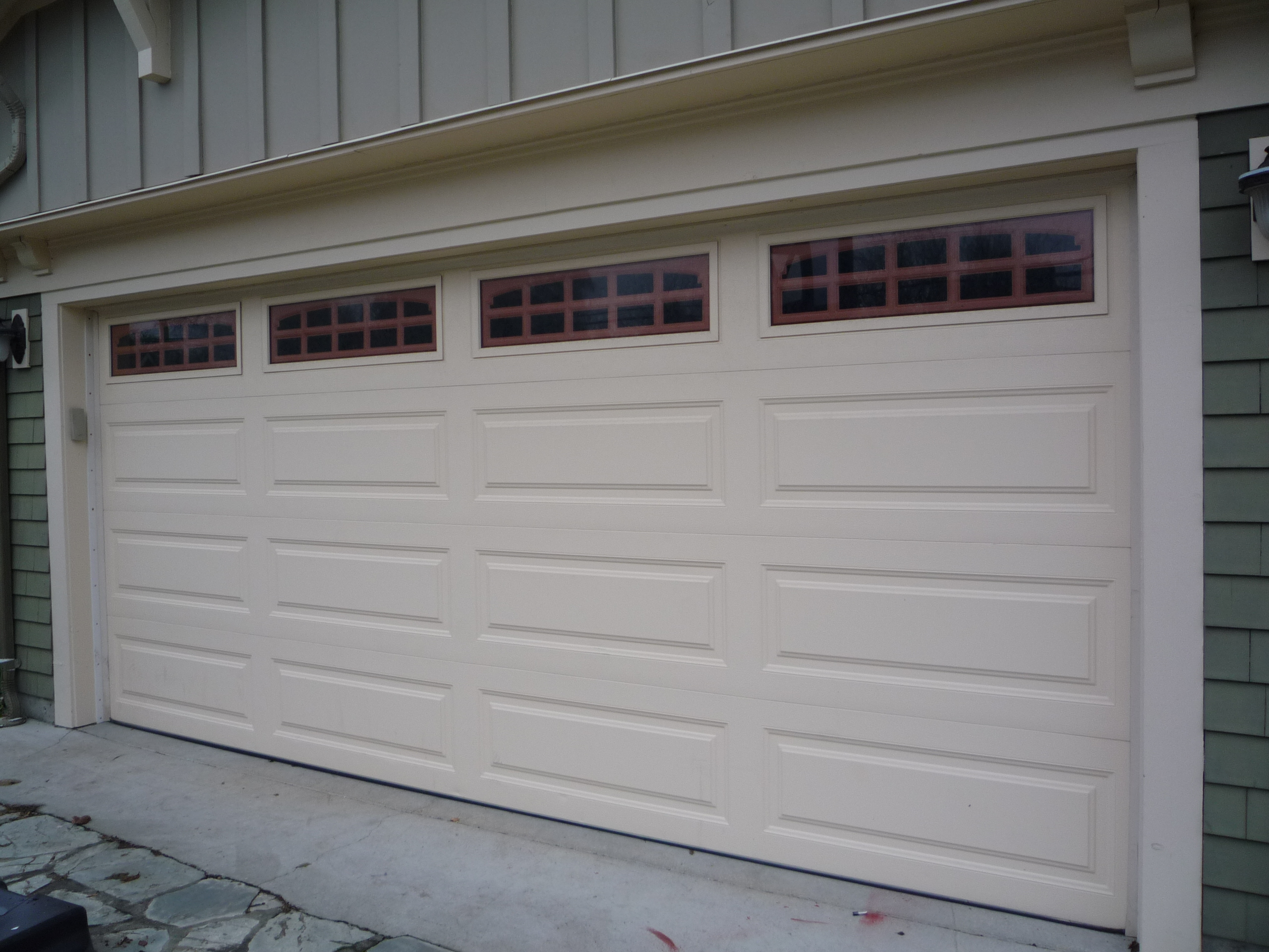1920 #594F41 PC18 Clopay Premium Series Long Panel With 608 Glass wallpaper Clopay Steel Garage Doors 37752560