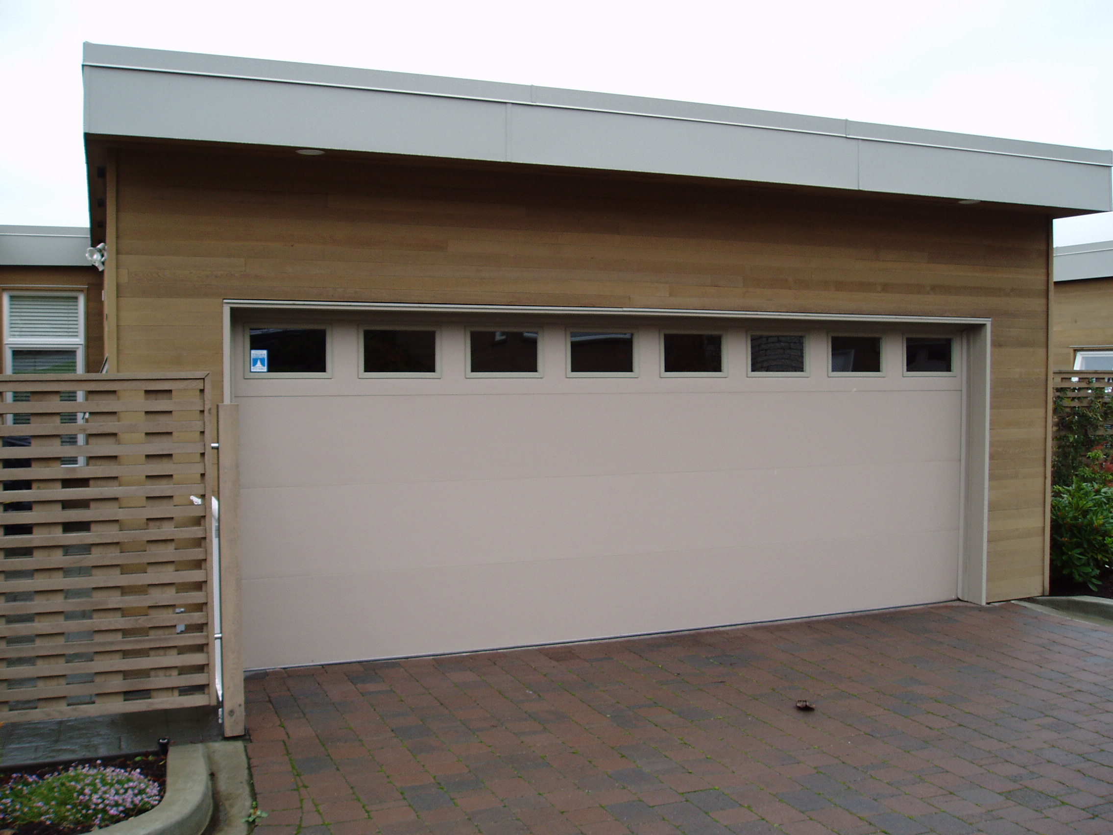 1704 #604E3D PC05 Clopay Premium Series Flush Style Steel Insulated With Plain  wallpaper Clopay Steel Garage Doors 37752272