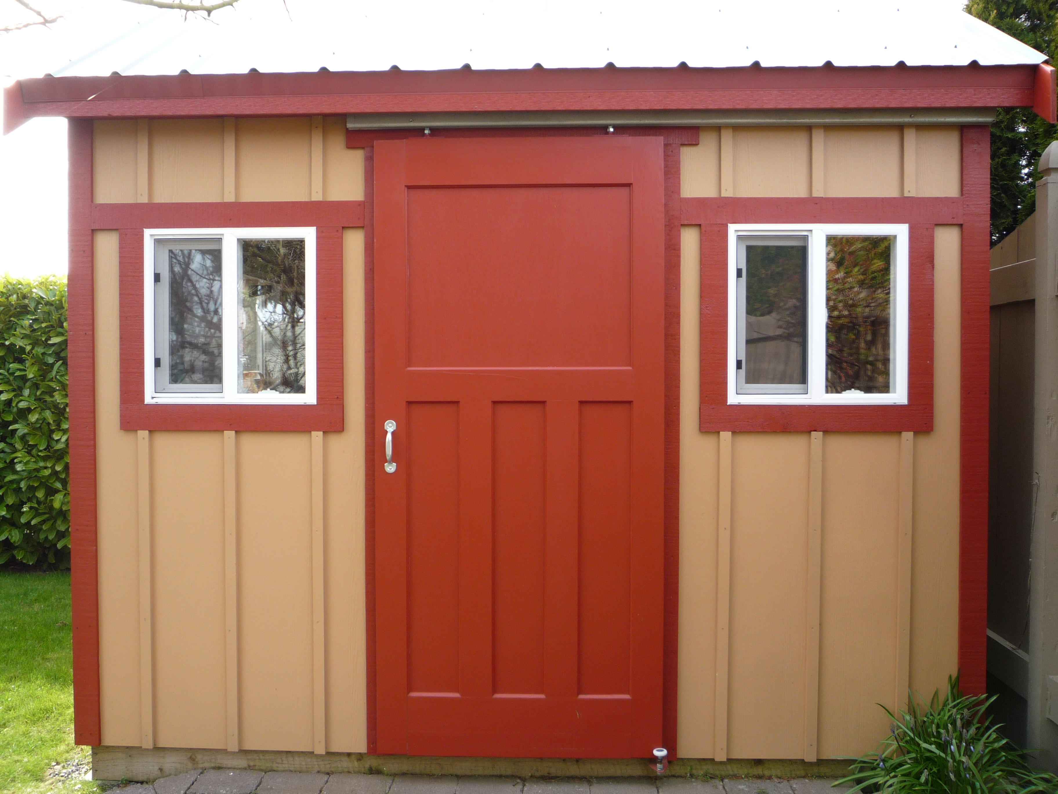 However if you wish to build tough durable pole barn doors for Exterior shed doors design