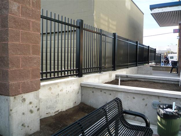 FS 04 - Commercial custom security fencing with post base plates