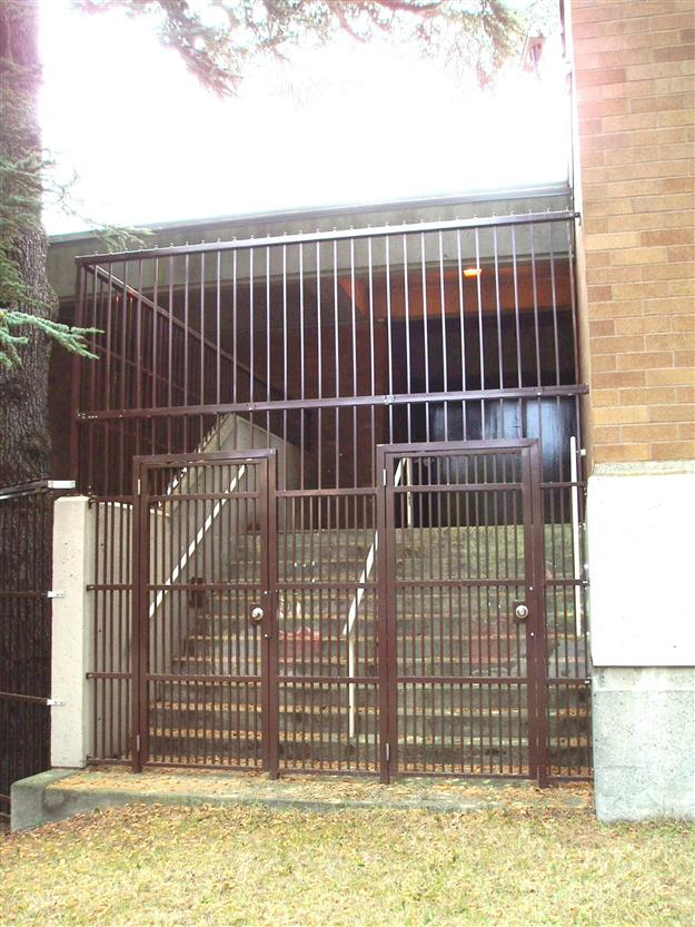 SE11 Custom Aluminum Security Infill with Pedestrian Gates