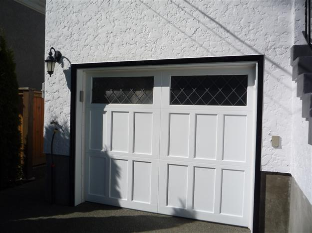 HW13-Heritage door, flat panels, double centre stile with unique leaded overlay top section.JPG