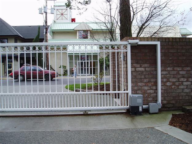 22 Sliding aluminum gate