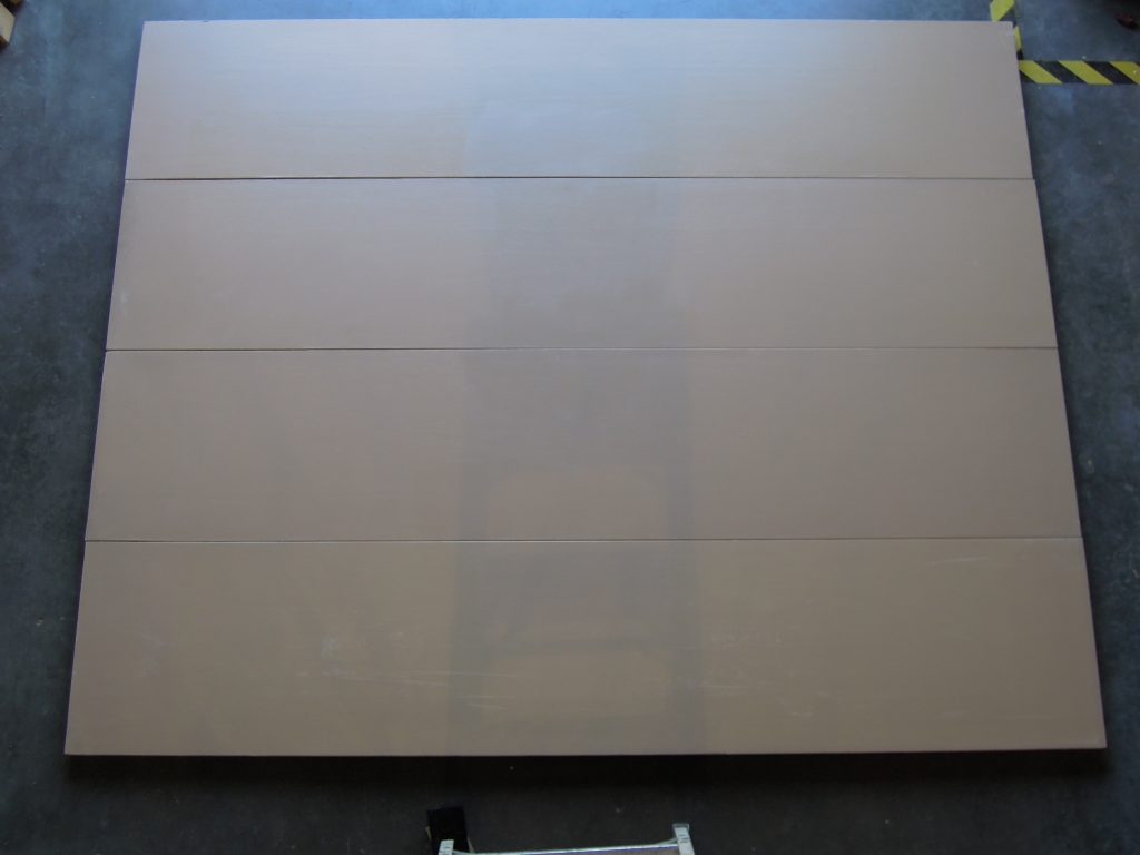 "8' x 6'6"" 4 Section, Wood, Flush Style Garage Door, Painted Tan"