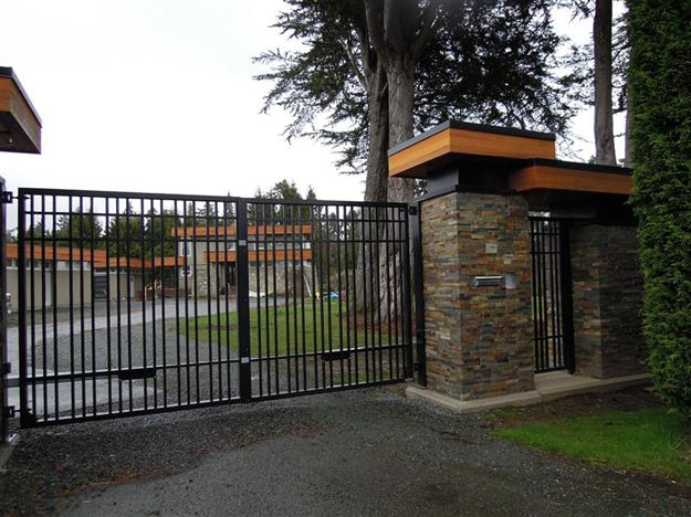 SWG Modified style 8 aluminum gate with match pedestrian gate