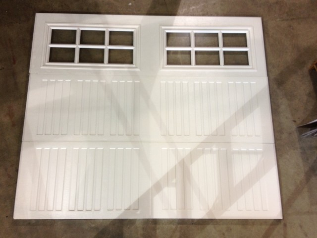 Steel, Insulated Garage Door with Single Glazed clear glass with inserts
