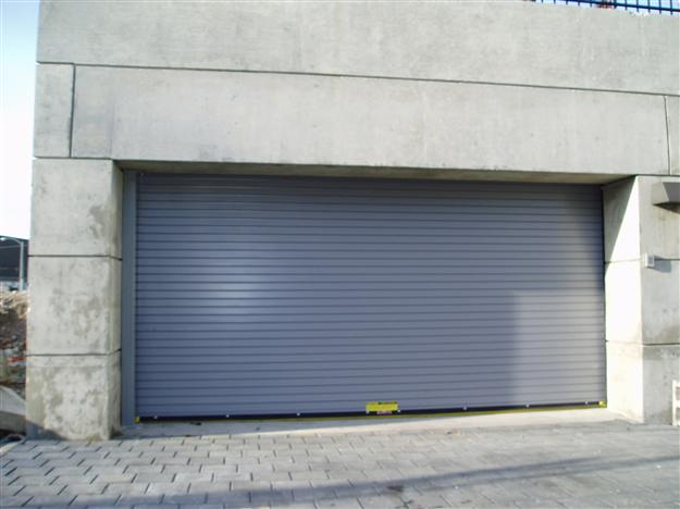 11 Rolling steel door with flat slats