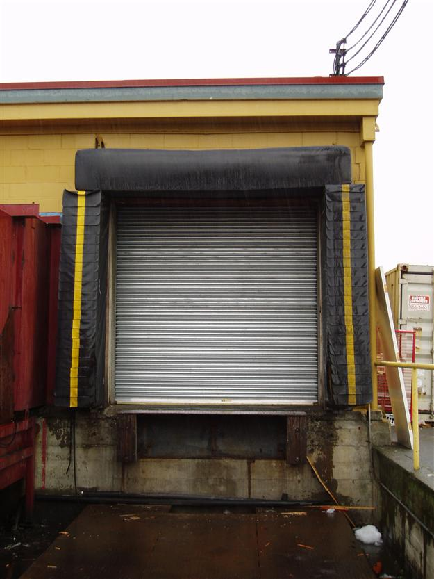 CD10 Rolling Steel Door with Dock Levellers, Seals and Bumpers