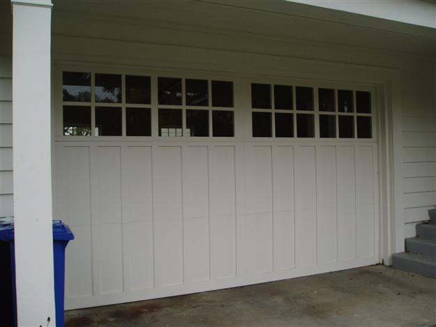 CH19 Carriage House wood paint grade double with flat panels and true divided lites
