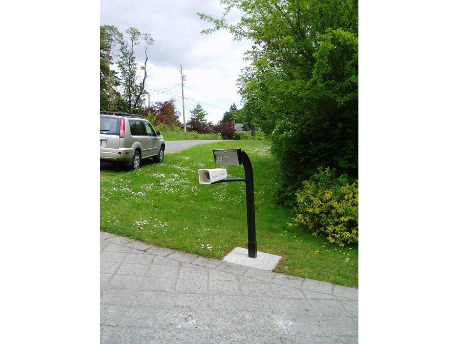 GC06 Custom Gooseneck to Accomodate Telephone Entry and Newspaper Box
