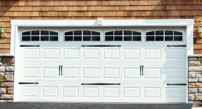 faux hardware garage door