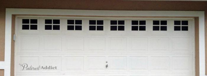 faux windows garage door