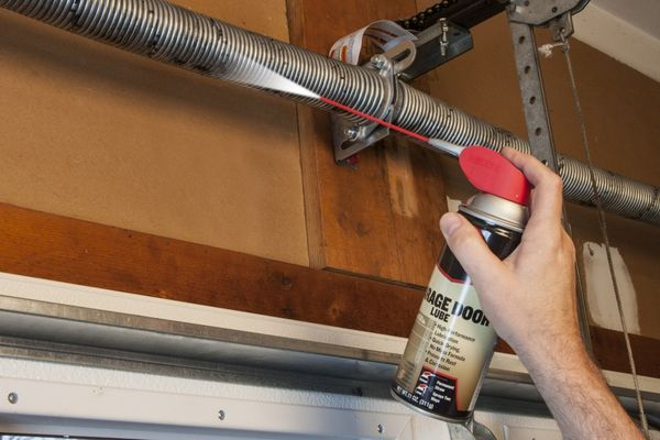 lubricate garage door parts